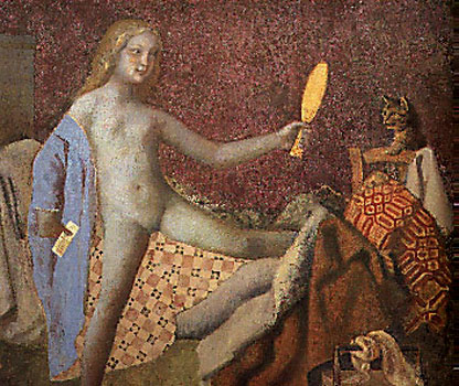 Balthus art mirrors cats adolescent breasts