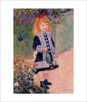 renoir art girl-watering-can